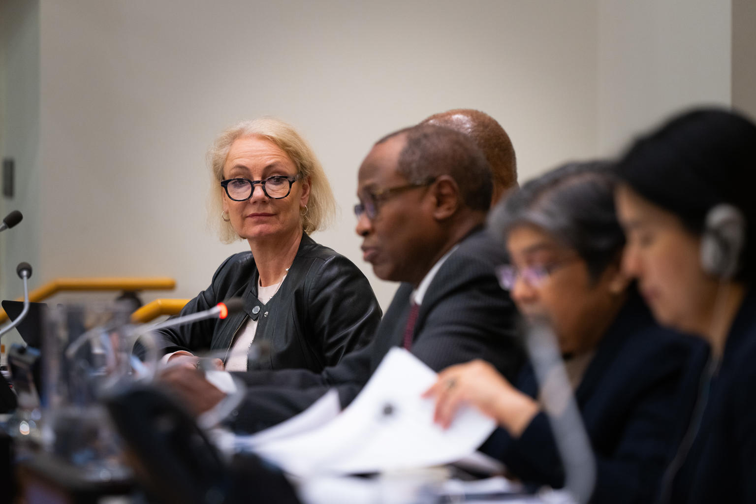 ARCHIVE: On 11 February 2020, Charlotte Petri Gornitzka (left), UNICEF Deputy Executive Director (Partnerships) at the first regular session of the UNICEF 2020 Executive Board, at United Nations Headquarters in New York. © UNICEF/UNI288689/McIlwaine