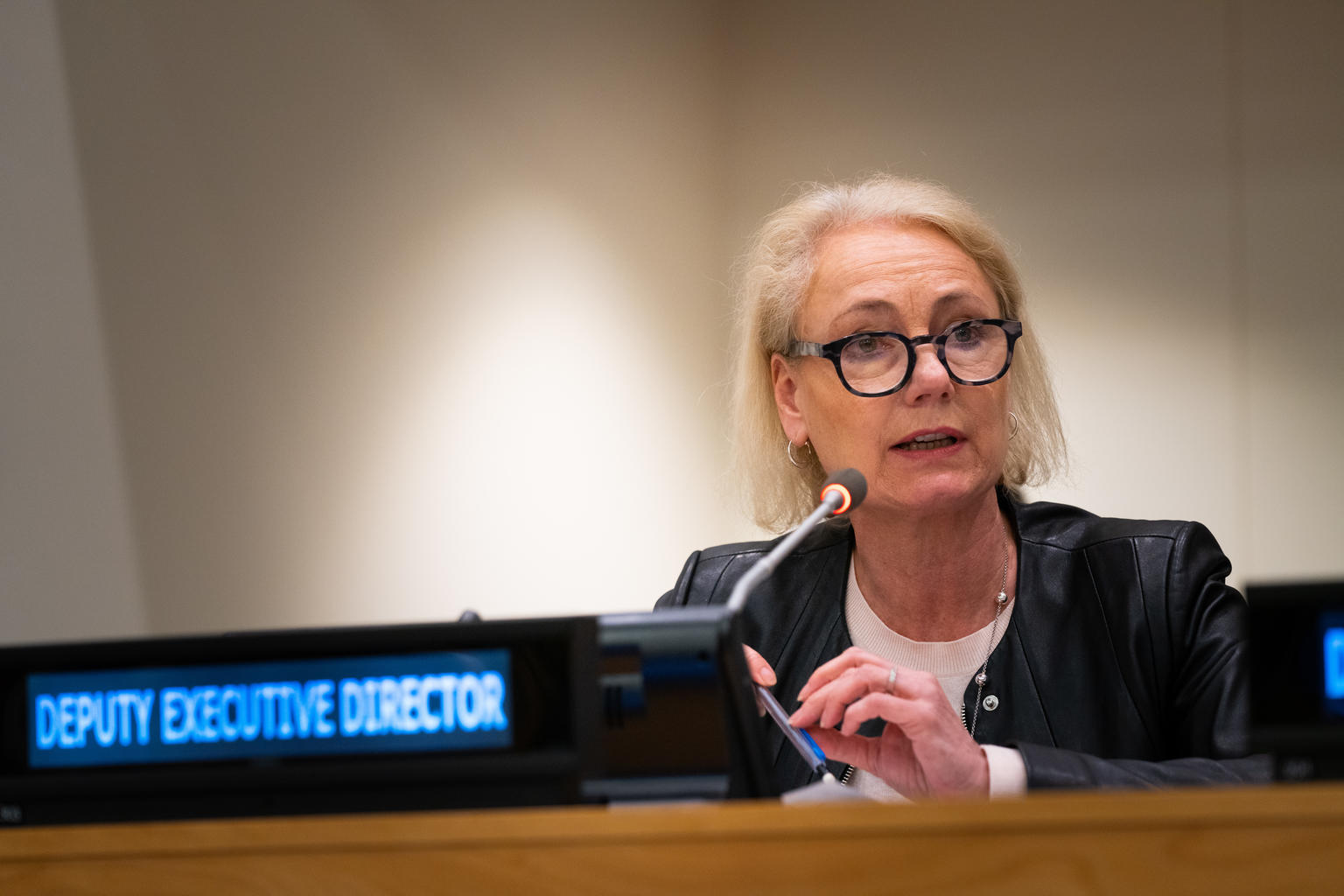 ARCHIVE: On 11 February 2020, Charlotte Petri Gornitzka, UNICEF Deputy Executive Director (Partnerships), speaks during the first regular session of the UNICEF 2020 Executive Board, at United Nations Headquarters in New York. © UNICEF/UNI288689/McIlwaine